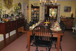 Dining Room at our Williamsburg Bed and Breakfast